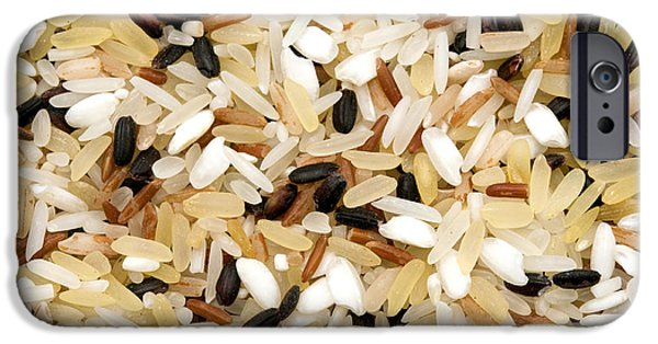 White Background iPhone Cases - Mixed rice iPhone Case by Fabrizio Troiani