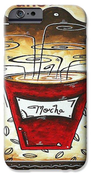 Mocha Beans Original Painting MADART iPhone Case by Megan Duncanson
