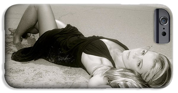 Youthful iPhone Cases - Model on Beach iPhone Case by Kicka Witte - Printscapes