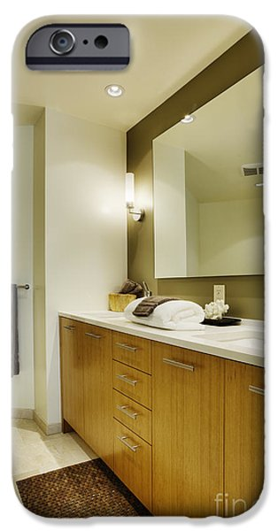 Modern Bathroom Interior iPhone Case by Andersen Ross