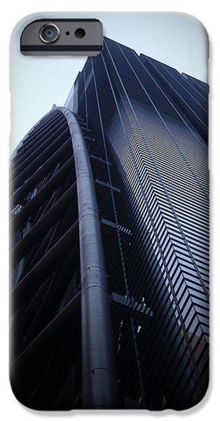 Metropolis iPhone Cases - Modern Building in Tokyo iPhone Case by Naxart Studio