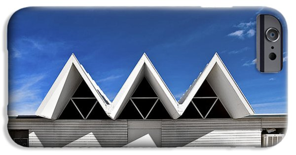 Metaphysics iPhone Cases - Modern Building Roofing iPhone Case by Eddy Joaquim