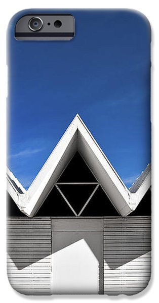 Modern Building Roofing iPhone Case by Eddy Joaquim