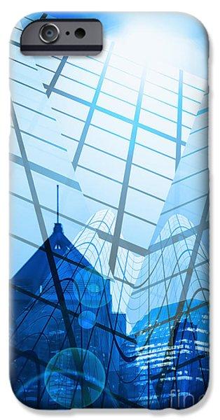 Modern City iPhone Case by Setsiri Silapasuwanchai
