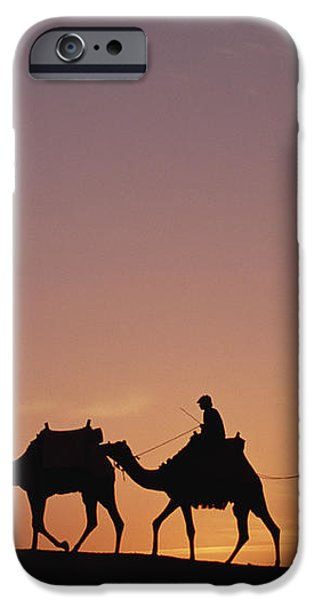 Modern Egyptians Riding Domesticated iPhone Case by Gerry Ellis
