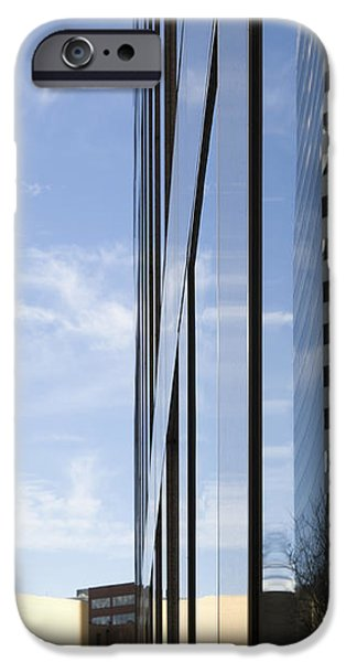Modern High Rise Office Buildings iPhone Case by Roberto Westbrook