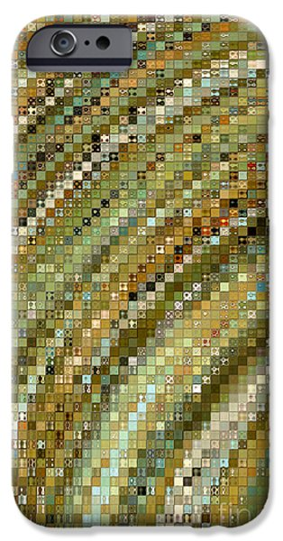 Mosaic iPhone Cases - Modern Mosaic Art- one iPhone Case by Mark Lawrence