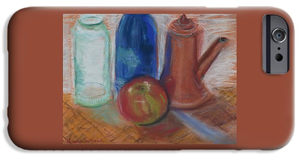 Wine Bottles Pastels iPhone Cases - Modern Still Life iPhone Case by Laura Sullivan