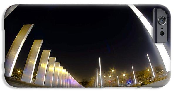 Stainless Steel iPhone Cases - Modern Street Lighting iPhone Case by Sven Brogren