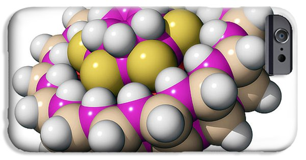 Molecular Graphic iPhone Cases - Molecular Bearing, Computer Model iPhone Case by Laguna Design