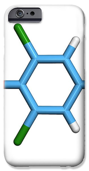 Molecule Of A Component Of Tcp Antiseptic iPhone Case by Dr Tim Evans
