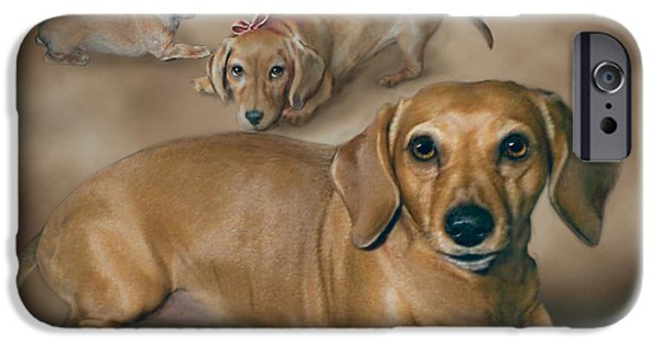 Dogs Digital Art iPhone Cases - Molly iPhone Case by Barbara Hymer