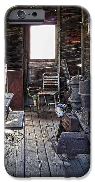 MOLSON GHOST TOWN STORAGE SHED iPhone Case by Daniel Hagerman