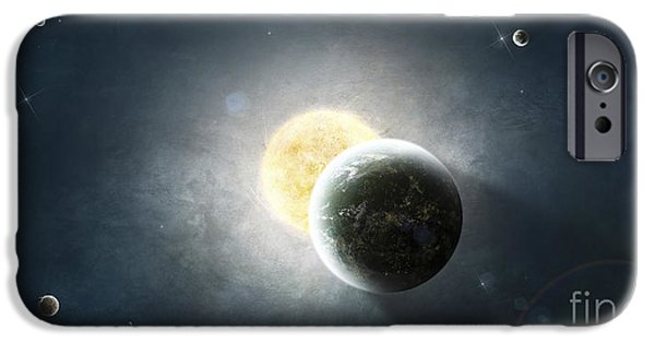 Terrestrial Sphere iPhone Cases - Moments Before A Total Eclipse iPhone Case by Tomasz Dabrowski