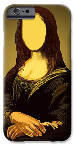 Antiques Pastels iPhone Cases - Mona Lisa iPhone Case by Setsiri Silapasuwanchai