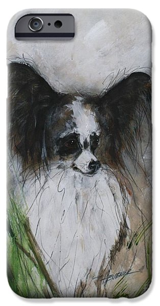 Puppies iPhone Cases - Monarch  Papillion iPhone Case by Ron Hevener