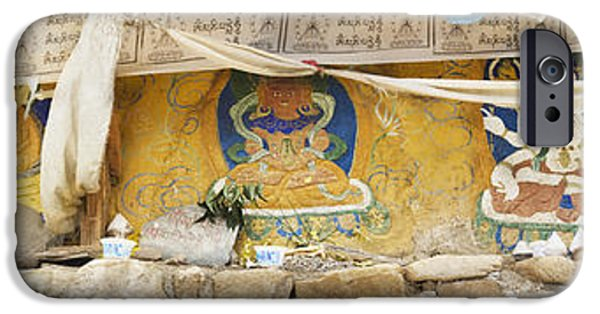 Tibetan Buddhism iPhone Cases - Monastery Building Near Lhasa. Buddhist iPhone Case by Phil Borges