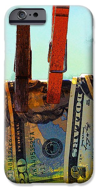 Money Laundering  iPhone Case by Karon Melillo DeVega