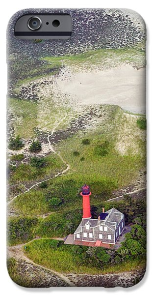 New England Lighthouse iPhone Cases - Monomoy Light at Monomoy Wildlife Refuge in Chatham on Cape Cod iPhone Case by Matt Suess