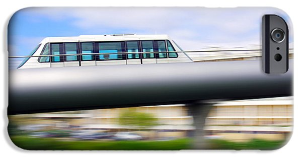 Technology iPhone Cases - Monorail carriage iPhone Case by Carlos Caetano