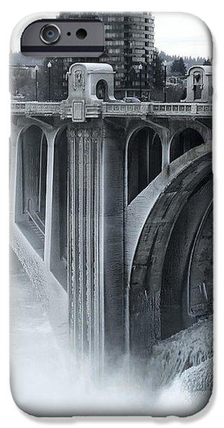 MONROE ST BRIDGE 2 - SPOKANE WASHINGTON iPhone Case by Daniel Hagerman