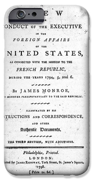 MONROE: TITLE PAGE, 1798 iPhone Case by Granger