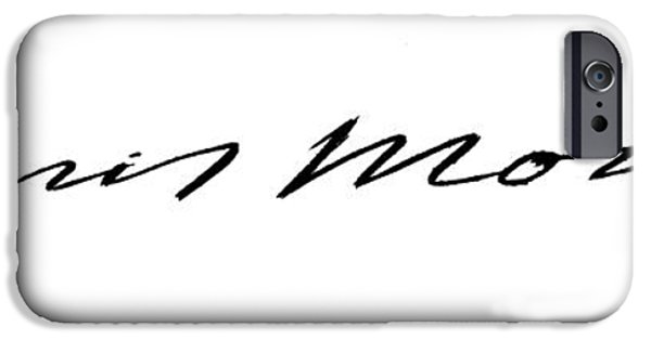 Autographed iPhone Cases - Monroes Autograph iPhone Case by Granger