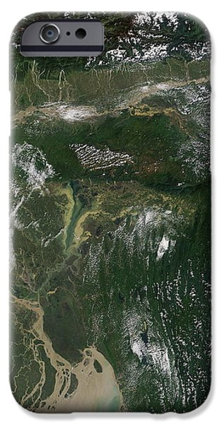 Monsoon Floods iPhone Case by NASA / Science Source