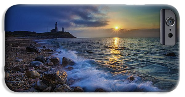Lighthouse iPhone Cases - Montauk Sunrise iPhone Case by Rick Berk