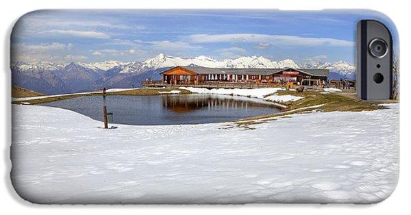 Monte Tamaro iPhone Cases - Monte Tamaro - Alpe Foppa - Ticino - Switzerland iPhone Case by Joana Kruse