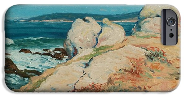 California iPhone Cases - Monterey Coast iPhone Case by Guy Rose