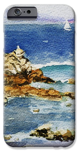Sailboat Ocean iPhone Cases - Monterey iPhone Case by Irina Sztukowski