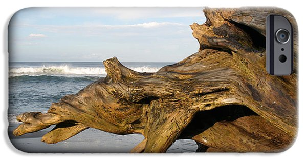 Jaco iPhone Cases - Monument at Playa Hermosa South of Jaco Costa Rica iPhone Case by Michelle Wiarda