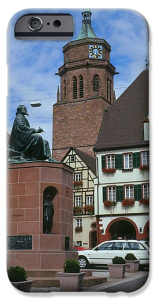 Statue Portrait iPhone Cases - Monument To Kepler iPhone Case by Detlev Van Ravenswaay