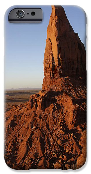 Red Rock iPhone Cases - Monument Valley High-lites iPhone Case by Mike McGlothlen