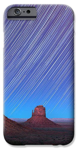 Monument Valley Star Trails  iPhone Case by Jane Rix
