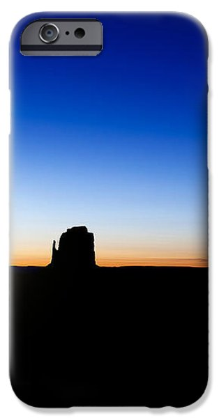 Monument valley sunrise iPhone Case by Jane Rix