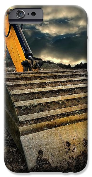 moody excavator iPhone Case by Meirion Matthias