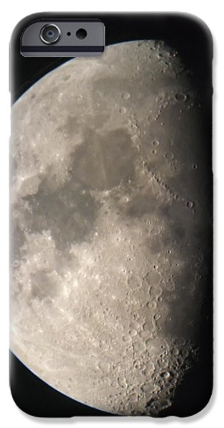 Moon Against The Black Sky iPhone Case by John Short