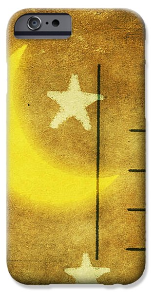 moon and star postcard iPhone Case by Setsiri Silapasuwanchai