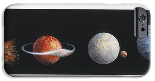 Disc iPhone Cases - Moon Formation iPhone Case by Gary Hincks