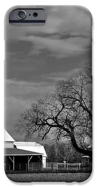 Moon Lit Farm iPhone Case by Todd Hostetter
