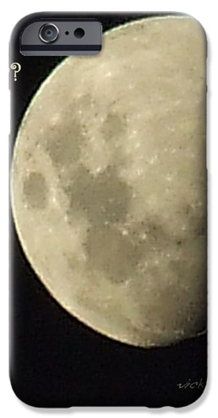 Moon Missing Cow iPhone Case by Vicki Ferrari