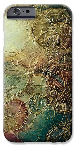 Subtle Colors iPhone Cases - Moon thread iPhone Case by Michael Lang