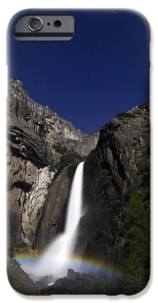 Epic iPhone Cases - Moonbow at Yosemite Falls iPhone Case by Rick Berk