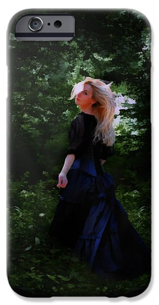 Photo Manipulation Digital Art iPhone Cases - Moonlight Calls Me iPhone Case by Nikki Marie Smith