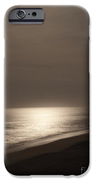 Beach At Night iPhone Cases - Moonlight Reflecting Off Of Water iPhone Case by Roberto Westbrook