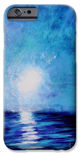 Michael Mixed Media iPhone Cases - Moonlight Sea iPhone Case by Mike Grubb