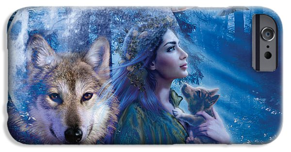 Moonlit iPhone Cases - Moonlit Brethren Variant 1 iPhone Case by Andrew Farley