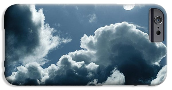 Moonlit Night Photographs iPhone Cases - Moonlit Clouds iPhone Case by Detlev Van Ravenswaay